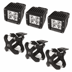 ( 1521003 ) Large X-Clamp and Cube LED Light Kit, Black, 3-Pieces by Rugged Ridge