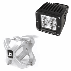 ( 1521010 ) Large X-Clamp and Cube LED Light Kit, Silver, Single by Rugged Ridge