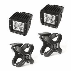 ( 1521038 ) Small X-Clamp & Cube LED Light Kit, Textured Black, Pair by Rugged Ridge