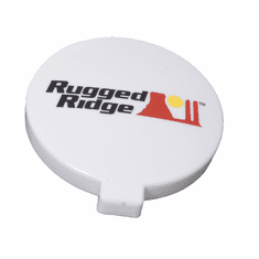 ( 1521054 ) 6-Inch Off Road Light Cover, White by Rugged Ridge