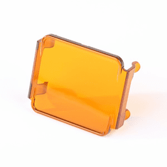 ( 1521067 ) 3 Inch Square LED Light Cover, Amber by Rugged Ridge