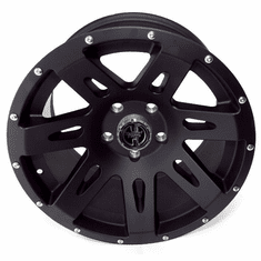 ( 1530101 ) XHD Aluminum Wheel, Black Satin, 17 inch X 9 inches by Rugged Ridge