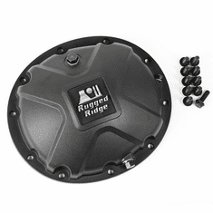 ( 1659514 ) Black Boulder Aluminum Differential Cover, fits 87-06 Jeep Wrangler, 84-01 Cherokee XJ, 93-04 Grand Cherokee with Dana 35 Axles