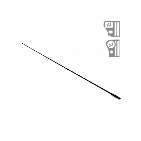 ( 1721202 )  Replacement Black Antenna Mast, Fits 1976-86 Jeep CJ And 1987-95 Wrangler YJ by Preferred Vendor