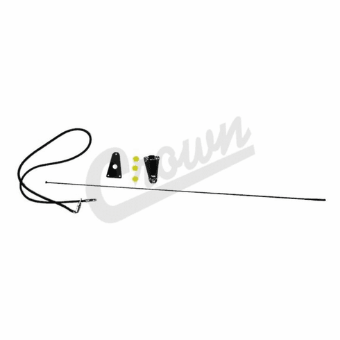 ( 1721402 )  Black Replacement Antenna Kit, Fits 1976-86 Jeep CJ And 1987-95 Wrangler YJ by Preferred Vendor