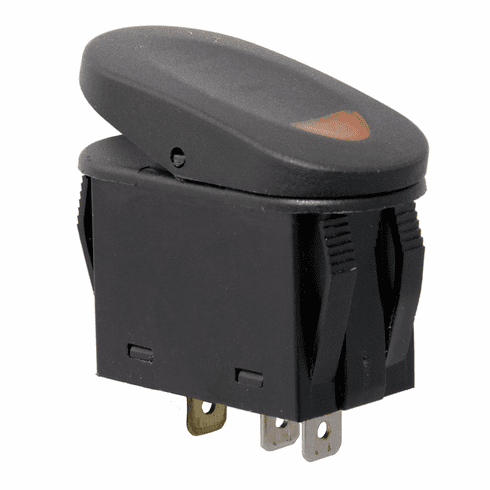 ( 1723501 ) Amber 2-Position Rocker Switch by Rugged Ridge