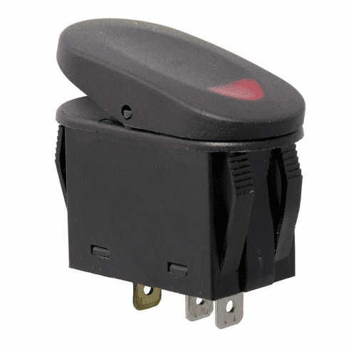 ( 1723502 ) Red 2-Position Rocker Switch by Rugged Ridge