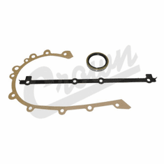 ( J8129097 )  Timing Cover Gasket Set With Oil Seal Fits: 1976-90 CJ/Wrangler W/ 6 Cylinder 232, 258 by Crown Automotive
