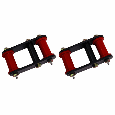 ( 1826504 ) HD Front and Rear Leaf Spring Shackles, 55-75 Jeep CJ Models by Rugged Ridge