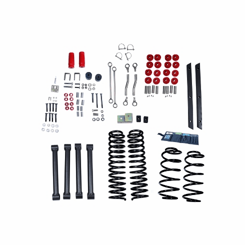 ( 1840142 ) 4-Inch Lift Kit without Shocks, 04-06 Jeep Wrangler Unlimited LJ by ORV Rugged Ridge