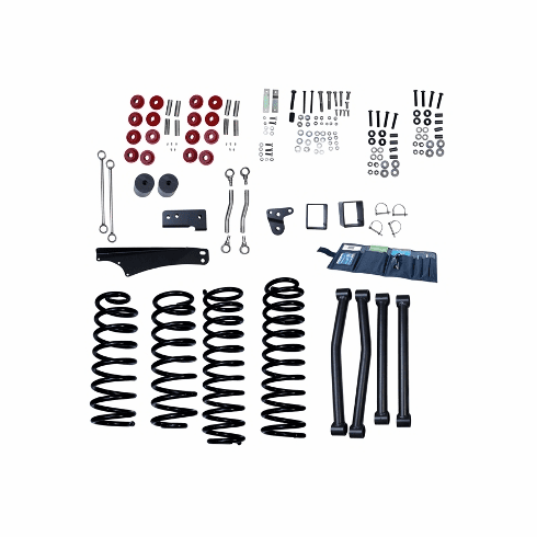 ( 1840160 ) 4-Inch Lift Kit without Shocks, 07-18 Jeep Wrangler JK by ORV Rugged Ridge