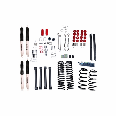( 1841542 ) 4-Inch Lift Kit with Shocks, 04-06 Jeep Wrangler Unlimited LJ by ORV Rugged Ridge