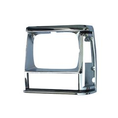 1984-90 XJ HEADLIGHT BEZEL, CHROME, LEFT