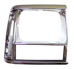 1991-96 XJ HEADLIGHT BEZEL, BLACK/CHROME, RIGHT