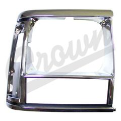 ( 55034078 ) Headlamp Bezel in Chrome for Passenger Side 1991-96 Jeep Cherokee XJ by Crown Automotive