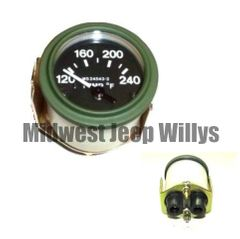 ( 24543-2 ) M-Series 24 Volt Temperature Gauge with Packard Rubber Connectors