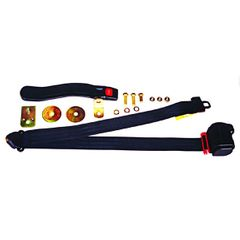 3-Point Seat Belt, Black, Retractable, Universal Application