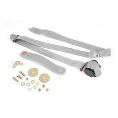 3-Point Seat Belt, Gray, Retractable, Universal Application