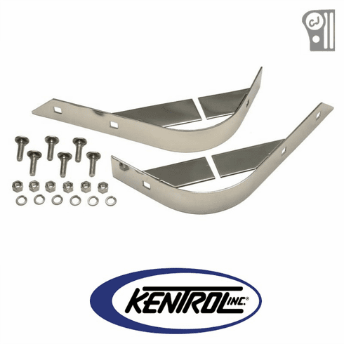 ( 30404 ) Polished Stainless Steel Rear Body Guard Set fits 1955-1986 Jeep CJ Models by Kentrol