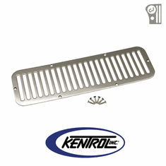 ( 30405 ) Polished Stainless Steel Hood Vent fits 1955-1977 Jeep CJ5 by Kentrol
