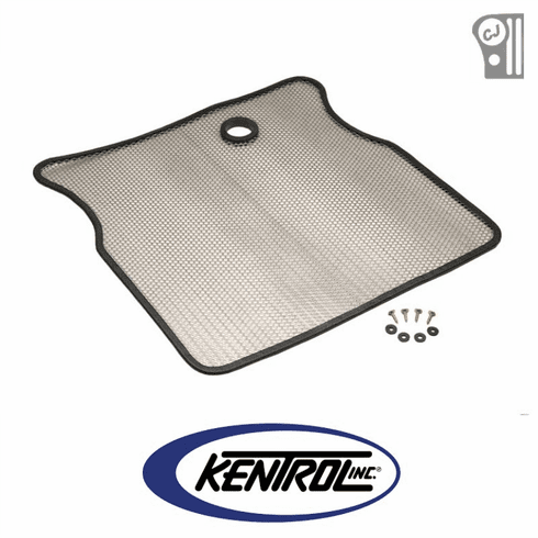 ( 30410 ) Polished Stainless Steel Bug Shield fits 1955-1986 Jeep CJ Models by Kentrol