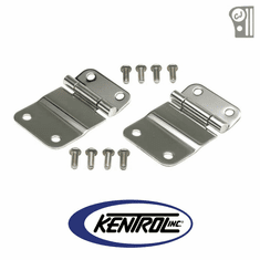 ( 30419 ) Polished Stainless Steel Tailgate Hinge Set fits 1976-1986 Jeep CJ Models by Kentrol