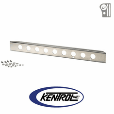 "( 30428 ) Polished Stainless Steel 42"" Front Bumper with holes fits 1945-1986 Jeep CJ Models by Kentrol"