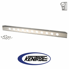 "( 30429 ) Polished Stainless Steel 54"" Front Bumper with holes fits 1945-1986 Jeep CJ Models by Kentrol"