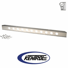 "( 30429WH ) Polished Stainless Steel 54"" Front Bumper with no License Plate Holes fits 1945-1986 Jeep CJ Models by Kentrol"