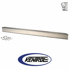 "( 30430WH ) Polished Stainless Steel 54"" Front Bumper with no License Plate Holes fits 1945-1986 Jeep CJ Models by Kentrol"