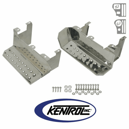 ( 30432 ) Polished Stainless Steel Side Step Set fits 1976-1995 Jeep CJ7 & YJ Wrangler by Kentrol