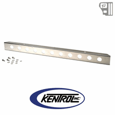 "( 30436 ) 54"" Front Bumper with holes Polished Stainless Steel fits 1987-1995 Jeep Wrangler YJ by Kentrol"
