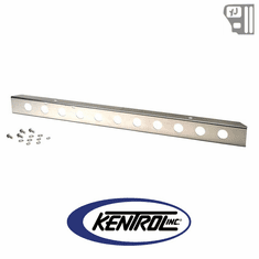 "( 30436WH ) 54"" Front Bumper with holes (no license plate holes) Polished Stainless Steel fits 1987-1995 Jeep Wrangler YJ by Kentrol"