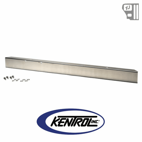 """( 30437 ) 54"""" Front Bumper w/out holes Polished Stainless Steel fits 1987-1995 Jeep Wrangler YJ by Kentrol"""