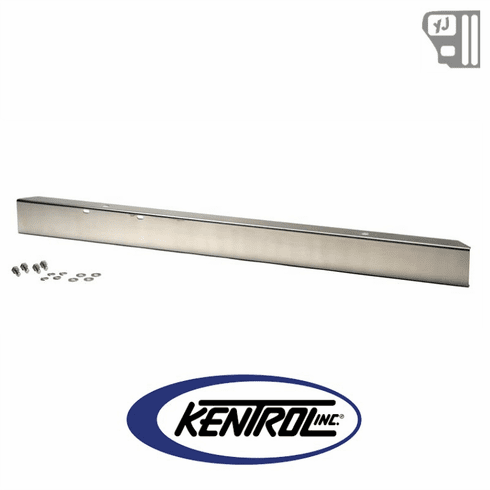 """( 30437WH ) 54"""" Front Bumper w/out hole (no license plate holes) Polished Stainless Steel fits 1987-1995 Jeep Wrangler YJ by Kentrol"""