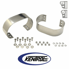 ( 30438 ) Polished Stainless Steel Bumperette Set fits 1976-1995 Jeep CJ & YJ Wrangler by Kentrol