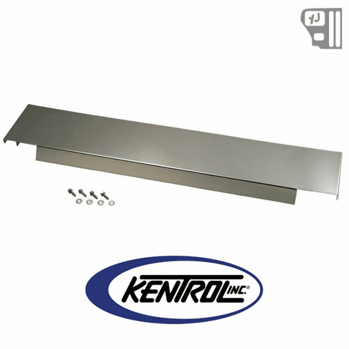 ( 30456 ) 410 Stainless Frame Cover Polished Stainless Steel fits 1987-1995 Jeep Wrangler YJ by Kentrol