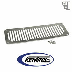 ( 30458 ) Hood Vent (8 Holes) Polished Stainless Steel fits 1987-1995 Jeep Wrangler YJ by Kentrol
