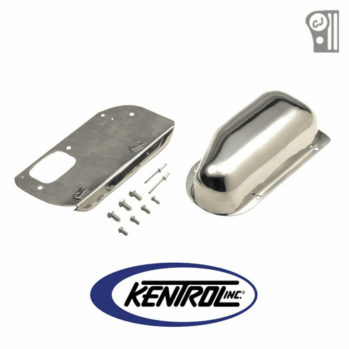 ( 30459 ) Polished Stainless Steel Wiper Motor Cover fits 1976-1986 Jeep CJ Models by Kentrol