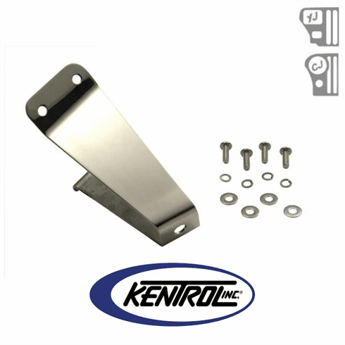 ( 30460 ) Polished Stainless Steel Tailgate Tire Stop fits 1976-1995 Jeep CJ & YJ Wrangler by Kentrol