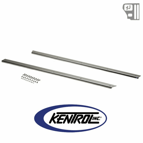 ( 30462 ) Rocker Guards (pair) Polished Stainless Steel fits 1987-1995 Jeep Wrangler YJ by Kentrol