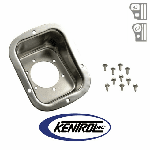 ( 30468 ) Polished Stainless Steel Gas Filler Neck fits 1978-1995 Jeep CJ & YJ Wrangler by Kentrol