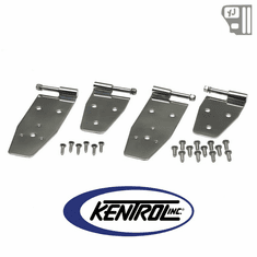 ( 30469 ) Hardtop Door Hinge Set (4 pieces) Polished Stainless Steel fits 1994-1995 Jeep Wrangler YJ by Kentrol
