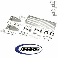 ( 30470 ) Polished Stainless Steel Hood Kit fits 1978-1995 Jeep CJ & YJ Wrangler by Kentrol