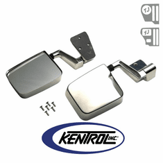 ( 30475 ) Mirror Kit (pair) Polished Stainless Steel fits 1988-2006 Jeep Wrangler YJ, TJ by Kentrol