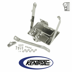 ( 30498 ) Polished Stainless Steel Battery Tray w/support arm fits 1976-1986 Jeep CJ Models by Kentrol