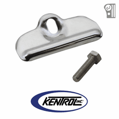 ( 30499 ) Polished Stainless Steel Battery Tray Clamp fits 1976-1986 Jeep CJ Models by Kentrol