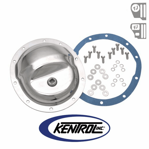 ( 304M35 ) Rear Differential Cover Model 35 Polished Stainless Steel fits 1987-2006 Jeep Wrangler YJ, TJ by Kentrol