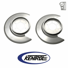 ( 30501 ) Polished Stainless Steel Disc Brake Dust Cover Set fits 1976-1978 Jeep CJ Models by Kentrol