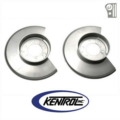 ( 30502 ) Polished Stainless Steel Disc Brake Dust Cover Set fits 1979-1986 Jeep CJ Models by Kentrol